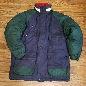 GANT Coat Thick Large Color Block Green Blue Red